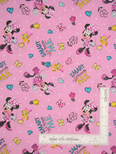 Disney Minnie Mouse Positively Me Pink Cotton Fabric Springs CP65183 By The Yard