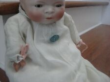 Grace S Putnam Bye Lo Baby Doll Bisque Head Cloth Body  PIN TAG MARKED ON GOWN