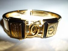 NWT Brighton My Flat In London Love Locks Gold, Black Bangle Bracelet R/ $78