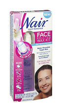 Nair Face Roll-On Hair Remover Wax Kit, 20 Strips