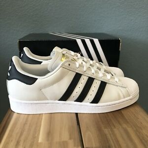 Adidas Superstar ADV FV0322 Creamy/Black/Gold Sneakers Men's Shoes Size 11.5