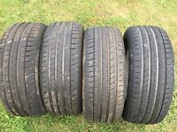 4 x 195/50/15 Michelin Pilot Sport 3 part worn tyres trackday race