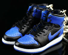 AIR JORDAN I 1 RETRO HIGH ROYAL BLUE BLACK KEYCHAIN 3D SNEAKER SHOES FIGURE 1:6