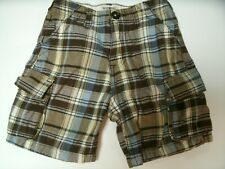 Oshkosh Boy's Shorts Brown Plaid Cargo Size 4T