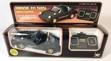 Vtg Porsche 911 Targa Black Gold 1984 Battery Operated RC Car by New Bright