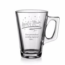 Lovely Mum Sentiment Personalised Engraved Coffee Glass LVM-COG
