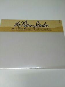 The Paper Studio 10 Translucent Vellum Sheets