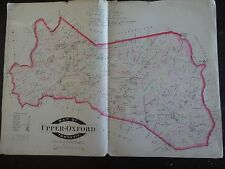 LARGE, HISTORIC 1883 Map of Upper-Oxford, PA - Property Specific Detail