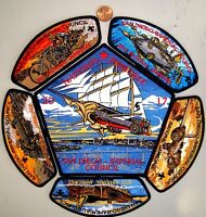 SAN DIEGO IMPERIAL OA 45 TIWAHE 2017 JAMBOREE STEAMPUNK 6-PATCH JSP FUNDRAISER