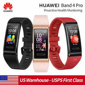 """HUAWEI Band 4 Pro Smart Watch 0.96"""" Bracelet GPS Blood Oxygen Heart Rate Monitor"""