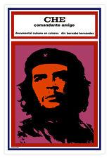 Embossed Cuban film Graphic Design movie Poster.CHE GUEVARA,Friend amigo