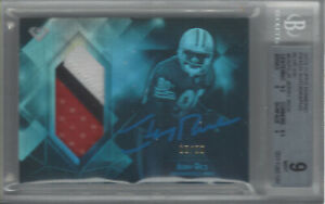 JERRY RICE 2015 TOPPS DIAMOND PATCH AUTOGRAPHS BLUE INK 6/20 #DAPC-JR BGS 9/AU10