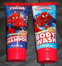Brand New Marvel Spider-Man Fruit Punch Body Wash & Shampoo Set 7 fl. oz. each