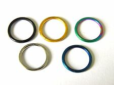 5x Closure Rings Hoop Titanium Plated Stainless Steel Earring Lip UK