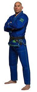 Fuji Suparaito Super Lightweight Mens Brazilian Jiu-Jitsu BJJ Gi - Blue w Green