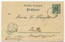 Deutsch-Neuguinea GA Postkarte Stephansort Berlin 1900
