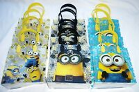 12 pcs Minions Goody Gift Loot Bag Child's Birthday Disney Party Favor Supply