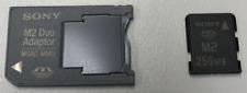 2pcs New Sony 256MB MemoryStick Pro Duo w/Adapter (lot of 2pcs) Camera Flash