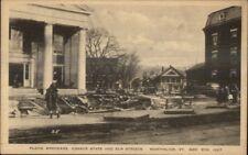 Montpelier VT 1927 Flood Damage VINTAGE EXC COND Postcard #18