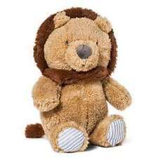 NWT Carters Just One You Brown And Tan Plush Crinkle Lion Baby Toy Rattle 66832