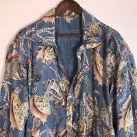 🐚VTG 80s 90s FU DA Fuda International 100% Silk Bomber Jacket Size Large SHELLS