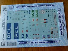 """Microscale Decal HO  #87-298 Asst Trailers-""""Container - 40' - PCL, KS Line, IW L"""