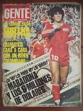 DIEGO MARADONA in Argentinos Juniors Rare GENTE Magazine 1980