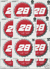 RICKY RUDD NASCAR SIGNATURE COCA COLA RACING BOTTLE CAP DECAL STICKER LOT OF 12