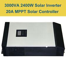 3KVA 2400W Hybrid Inverter Built-in 20A MPPT Solar Charge Regulator 24VDC 220VAC
