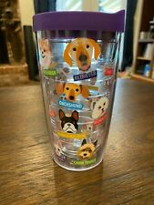 Tervis 16 oz dog tumbler with purple lid