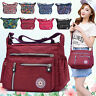 Ladies Multi Pocket Nylon Bag Casual Crossbody Handbag Waterproof Shoulder Purse