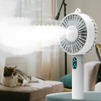 KQ_ Mini Cooling Fan USB Desk Humidifier Misting Water Spray Portable Air Cooler