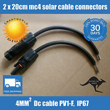 MC4 Solar Panel Connectors With 20 cm Cable Male Female Set 30A PV
