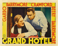 Grand Hotel 11X14 Lobby Card LC  Lionel Barrymore Wallace Beery