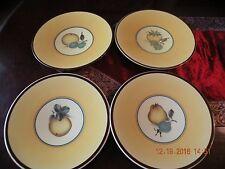 "Royal Copenhagen Denmark Porcelain Faience Bellona Salad Plates - Set of 4 - 8"""
