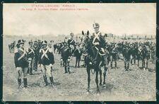 Militari Reggimentali IX Lancieri di Firenze Roma cartolina XF2226
