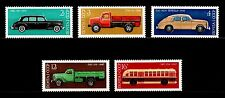 USSR RUSSIA STAMP MNH-OG 1976 Full set of 5 Soviet Vehicles GAZ ZIS Cars Trucks.