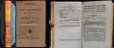 K/ RECUEIL DES ACTES ADMINISTRATIFS DÉPARTEMENT DE L'OISE 1827 Restauration