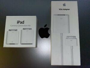 NEW Apple iPad Camera Connection MC531ZM/A A1362 A1358 + MC552ZM/B 30-pin A1368