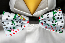 Playing Card Casino Bow Tie Hair Bow Neck Tie Prom Bowtie Dickie  Feeanddave