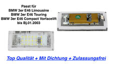 2x TOP LED Kennzeichenbeleuchtung Mit Dichtung BMW 3er E46 Limousine 320i