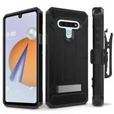 LG Stylo 6 Case with Glass Screen Protector, Rugged Holster & Kickstand - Evocel
