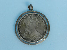 Burg Co Tyr 1780-X~S.F~Archid Avst Dux~Maria Theresa Silver Coin Pendant AUSTRIA