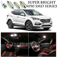 5050 SMD White LED Interior Lights Package Kit For 2016-Up Hyundai Santa Fe 11pc