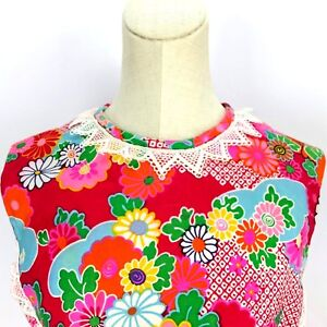True Vintage Shift Dress Park East By Swirl Floral Summer Mod Lace Bright Bold