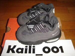 Nike Baby Air Max '95 Size 3.5c BLUE SHADOW GREY BLACK Neon 650185-002 2000 B