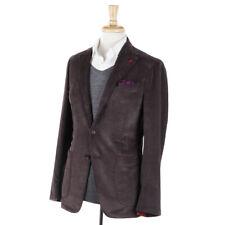 NWT $2595 ISAIA 'Tenero' Brown Corduroy Cotton Sport Coat Slim 40 R (Eu 50)