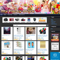 PARTY SUPPLY STORE - Online Business Affiliate Website For Sale Free Domain Name