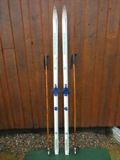 """Ready to Use Cross Country 73"""" Long ROSSIGNOL 190 cm Skis +  Poles"""