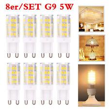 8Stk G9 5W LED Glühbirne Sparlampe Leuchtmittel Stecklampe Birne Lampe Sockel DE